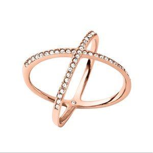 MICHAEL KORS Circle X Rose Gold Ring